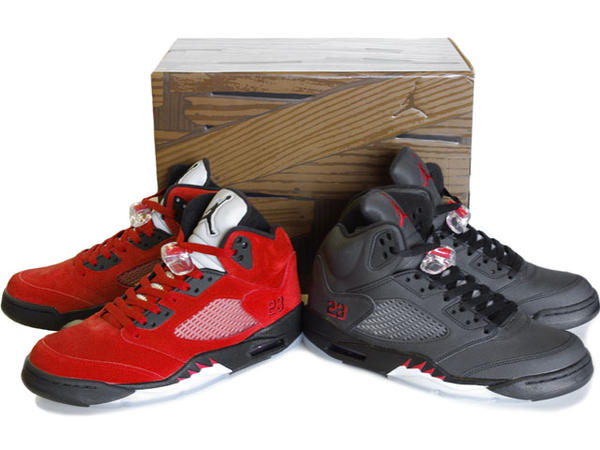 Air Jordan V Raging Bull Pack Varsity Red Black Package On Sale