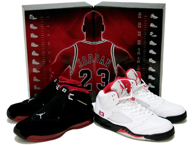 air jordan V white black fire red cheap air jordan 18 countdown package