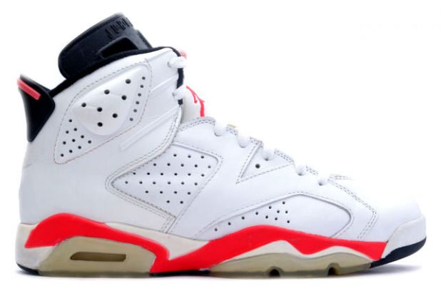 Popular Air Jordan VI white infared black